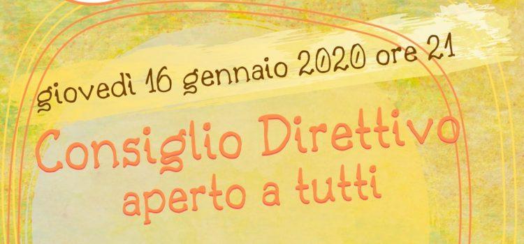 Consiglio Direttivo LAIF – online 16 gennaio 2020