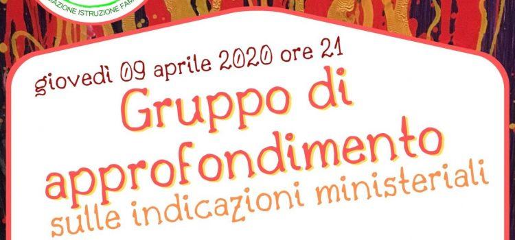 Gruppo di approfondimento – online 09 aprile 2020