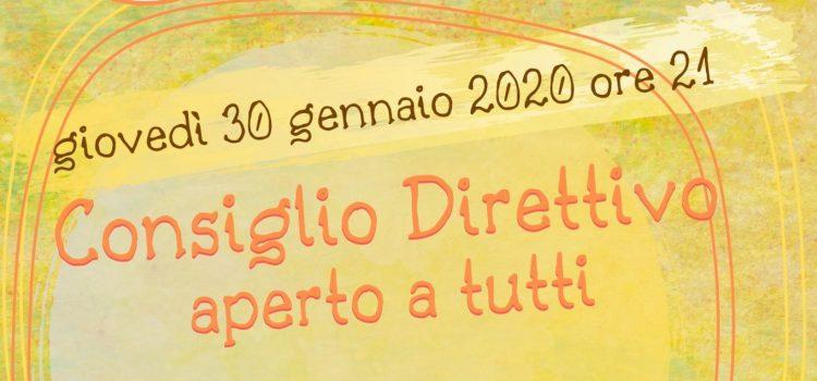 Consiglio Direttivo LAIF – online 30 gennaio 2020
