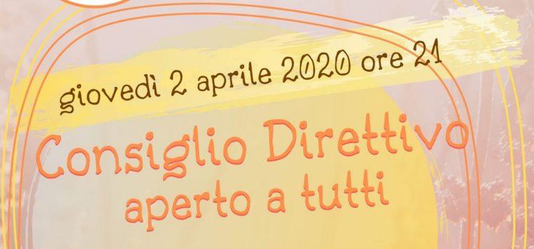 Consiglio Direttivo LAIF – online 2 aprile 2020