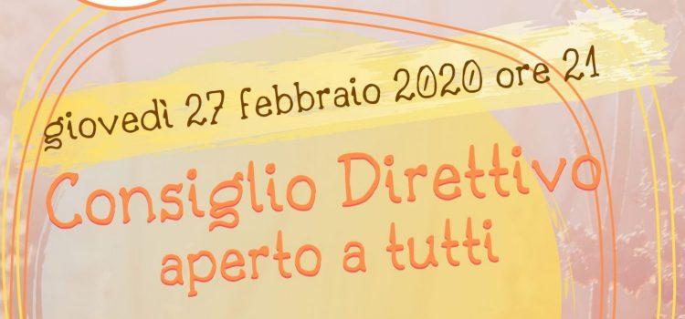 Consiglio Direttivo LAIF – online 27 febbraio 2020