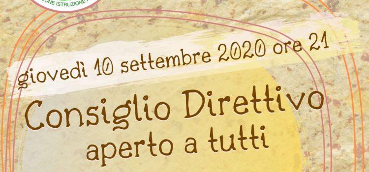 Consiglio Direttivo LAIF – online 10 settembre 2020