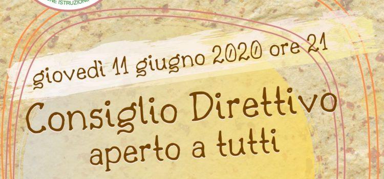 Consiglio Direttivo LAIF – online 11 giugno 2020