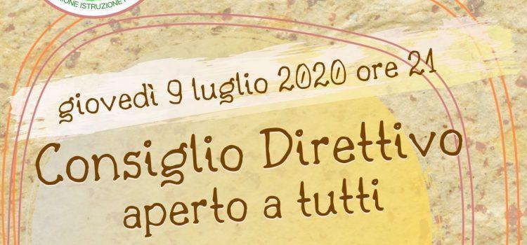 Consiglio Direttivo LAIF – online 9 luglio 2020