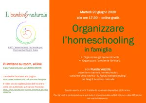 flyer organizzare l'homeschooling
