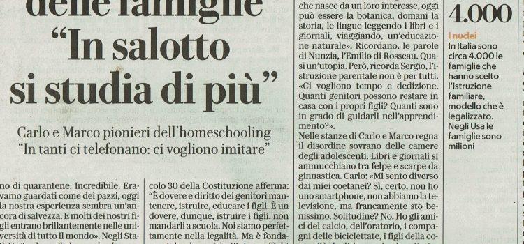 La Repubblica e RAI Radio Tre parlano di homeschooling e di LAIF