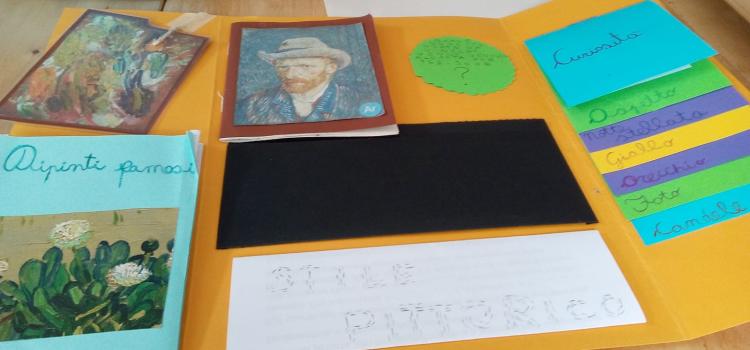 Luna presenta il suo Lapbook su Vincent Van Gogh