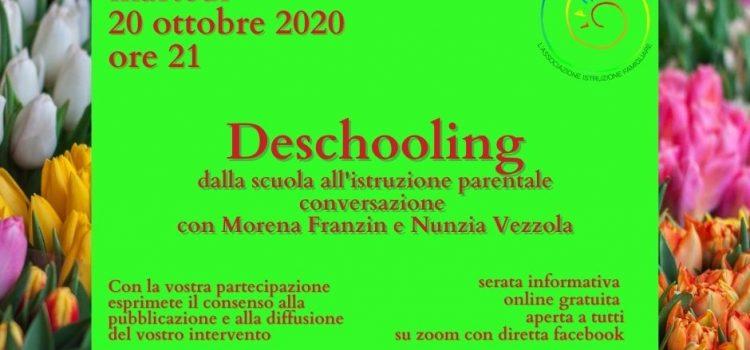 Deschooling – online 20 ottobre 2020