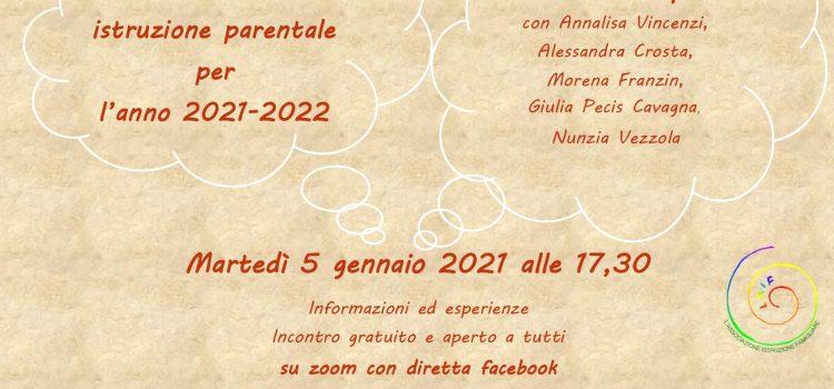 Comunicazione di istruzione parentale, online