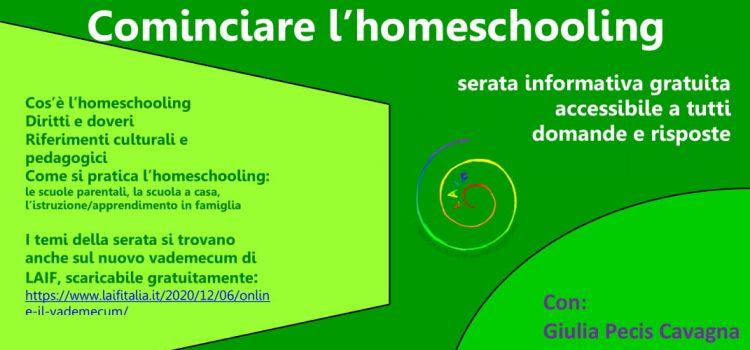 Vademecum per cominciare l'homeschooling – online 10 dicembre 2020