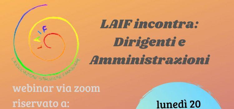 LAIF incontra Dirigenti e Amministrazioni – 20 settembre 2021